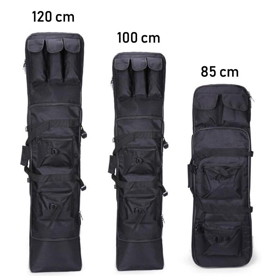 Noir grand sac de pêche à la mouche Oxford imperméable à l'eau matériel grande tige couverture multifonctionnel 85/100/120 cm accessoire merde sac de chasse