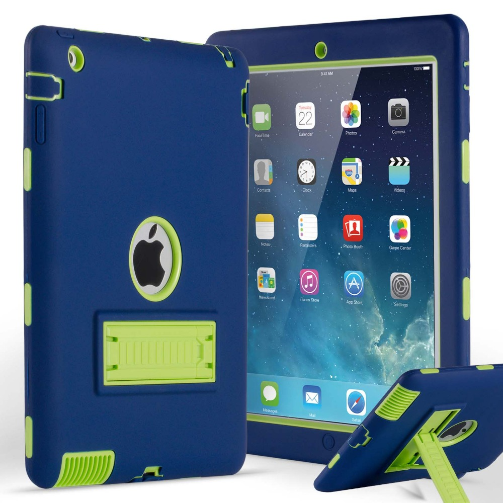 new styles 73038 efba5 US $13.86 20% OFF|For Coque iPad 4 3 2 Case Heavy Duty Shockproof Rugged PC  Kickstand Protective Cover Case for iPad 2nd/3rd/4th Generation Retina-in  ...