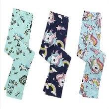 Unicorn Leggings Girls Baby Kids Pants Trousers for Girls Children Legging Elasticity Breathable Soft Print Girl Leggings Pants цена