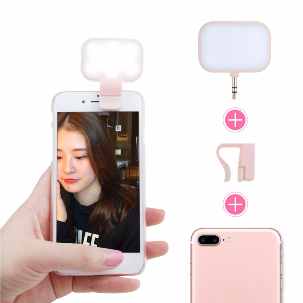 Portable Flash Mobile Phone LED Light USB Chargebable Night Lamps Darkness Selfie With Smartphone