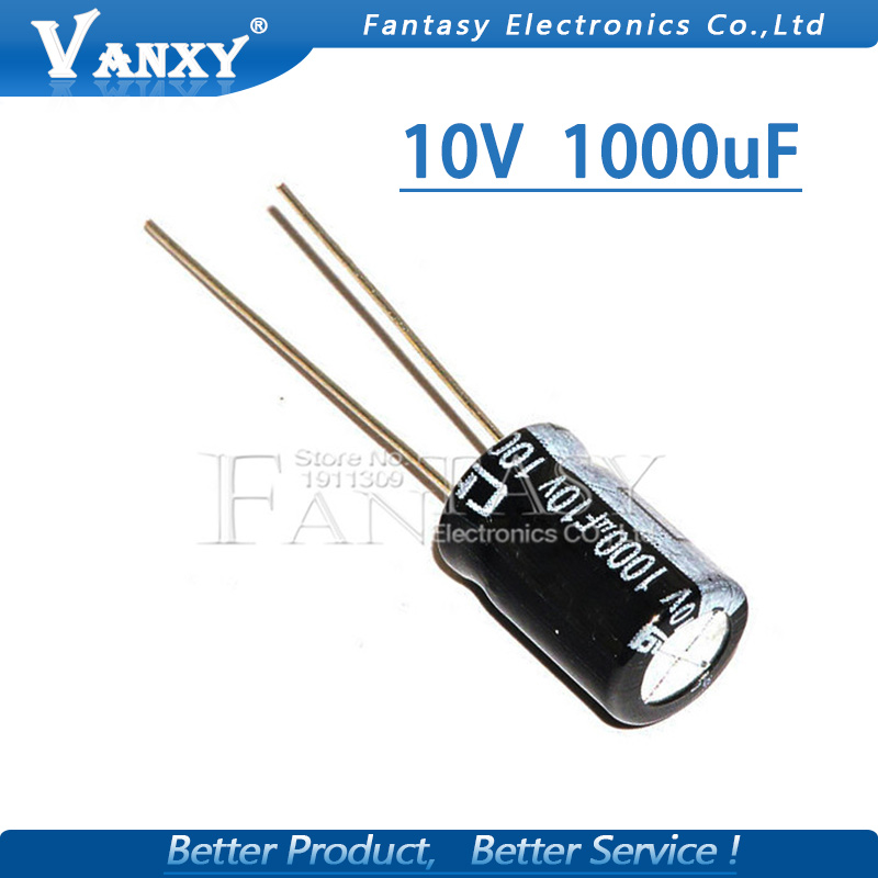 20PCS Higt Quality 10V1000UF 8*12mm 1000UF 10V 8*12 Electrolytic Capacitor