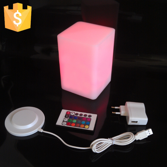 Table, Lamp, Modern, Decorative, Mini, Cube