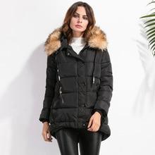 Eiderdown хлопка пальто женщин длинное пальто, чтобы согреться зимой тяжелые волосы с капюшоном пальто хлопка мягкой одежды