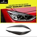 3 Серии F30 Углеродного Волокна Лампа Переднего Фара Брови Веки Автомобиль Стиль Для BMW F30 328i 335i 2012UP