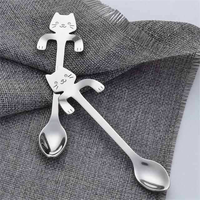 Cartoon Cat Stainless Steel Handle Hanging Tea Coffee Outdoor Camping Picnic