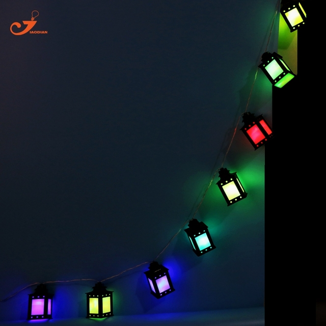 Color Lantern Light Patio String Lights Fairy Holiday Led Christmas Lighting Battery Ed Home Ramadan Lamps Decor
