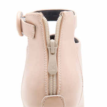 ESVEVA 2020 Women Boots Buckle High Heels Shoes Zipper Ankle Boots Pointed Toe Autumn Shoes Square Heels Boots Woman Size 34-43