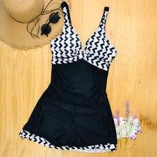 Plus Size Two Piece Retro Black Bathing Suit