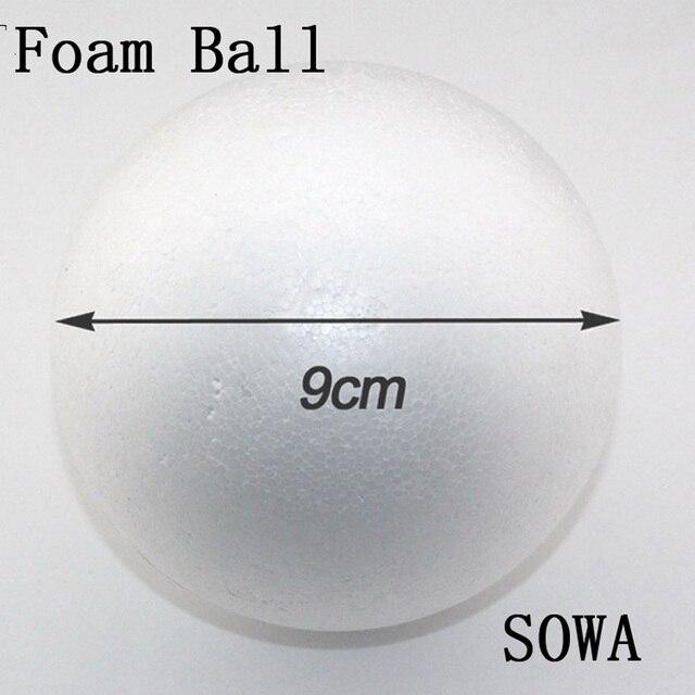 Free Shiping Tamanho 9 cm Bola de Espuma Bola Bolas Natural Arredondada  isopor Branco Craft DIY 265f3e290c708