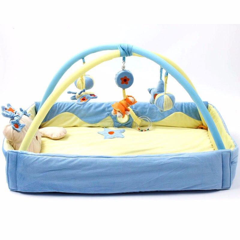 Maman repos must-have pad bleu augmentation bébé ramper tapis yoga tapis couverture musique jeu couverture jeu pad jouets éducatifs