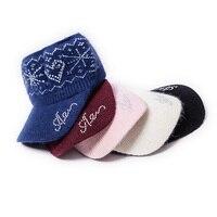 P54 Women Girls Fashion Hats Autumn Winter Cap Bling Rabbit Hair Hats Fashion Knitted Visor Diamond