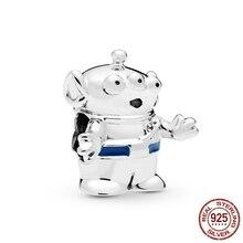 2019 New 925 Sterling Silver Beads Pixar Toy Story Alien Charms fit Original Pandora Bracelets Women DIY Jewelry 925 sterling silver beads toy story jessie pendant charms fit original pandora bracelets women diy jewelry