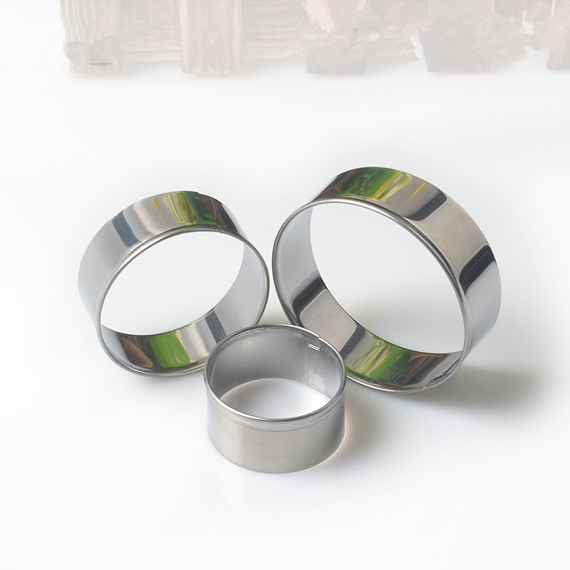 3pcs/set Round Circle Stainless Steel Cookie Cutter Mold Kitchen Baking Mousse Ring Fondant Cake Biscuits Mould Decorating Tools circle