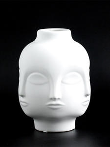 Vases Porcelain-Decoration Ceramic-Vase Flowers White-Tools Face-Shape Designs Home Corridor