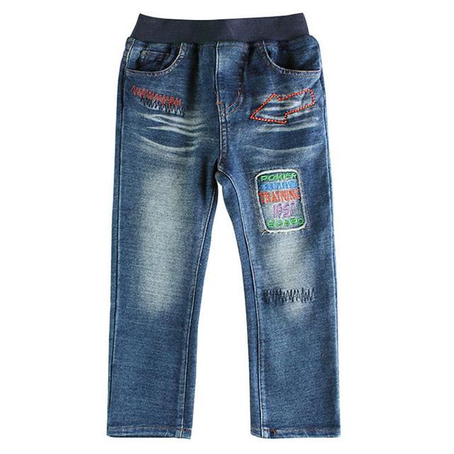 Novos modelos de jeans nova desgaste dos miúdos das crianças jeans meninos alta qualidade calças de jeans lavados crianças calças de brim do bebê moda projetos para menino