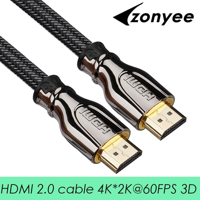 Zonyee Câble HDMI Haute Vitesse 2.0 Version 3D 4 K 60FPS câble pour HD TV LCD PS3 Projecteur 1 m 2 m 3 m 5 m 8 m 10 m 15 m 20 m HDMI câble