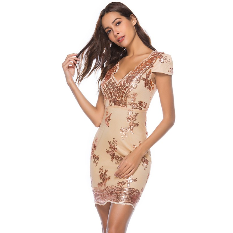 US $17.25 52% OFF|bodycon dress woman party night club summer runway dress  2019 sparkly sequin dress plus size clothing glitter wrap dress A2194-in ...