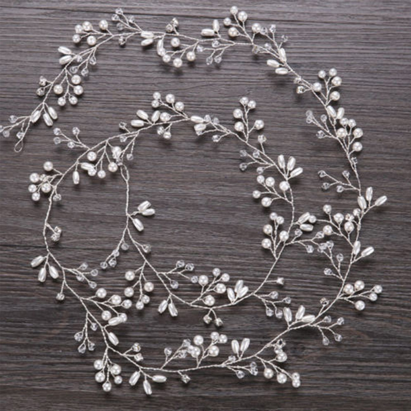 Hair Vine 1.5m/1m Pearls Crystal Hair Accessories Headpiece