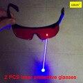 Защитные очки высокое качество ПК объектив 200-560 лазерный Безопасность очки 2 piece/package излучение ультрафиолетового сварочные очки