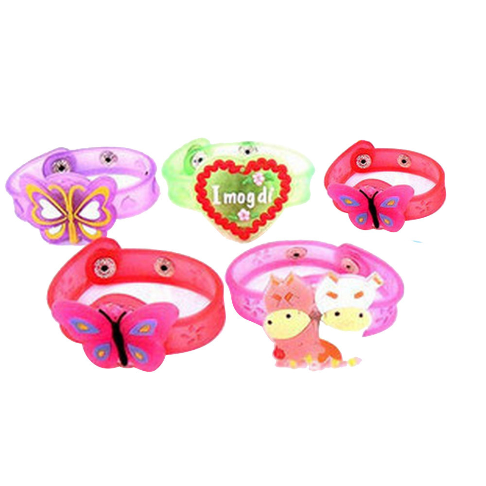 Funny Anti-stress For Children Boys Girl Adult Light Flash Toys Wrist Hand Take Dance Party Dinner Party Multicolor Silicone