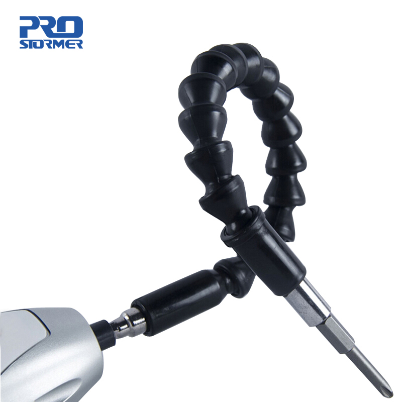 PROSTORMER 1/4' Flexible Shaft Screwdriver Extension Dremel Link Rod Drill Flexible Drill Connecting Link Power Tool Accessories
