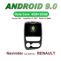 01f7f97ce OTOJETA Car GPS 10 1inch Android 9 0 Radio FOR RENAULT CLIO 2017 Bluetooth  Navigation Capacitive