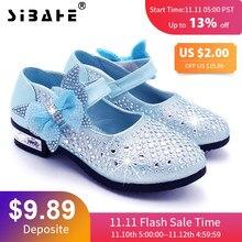 077e42f02 туфли для девочек принцесса Вечеринка Кожаные ботинки Цветочница фальшивый  бриллиант обувь ребятишки галстук-бабочка Платья