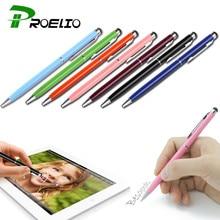 Proelio Мини Металл емкостный стилус Стилусы Экран для телефона Планшеты ноутбука встроенный шариковая ручка 2 в 1 для Iphone Samsung