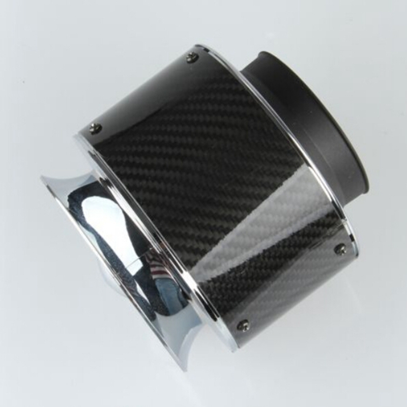 car styling Universal Racing Carbon Fiber air intake filter High flow cold air extension system For honda civic/ford focus 2 3