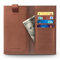 3 Colors Genuine Cow Skin Phone Pouch + Money Wallet + Card Pocket Bags for iphone 8 plus Leather Magnet Cover for iphone8