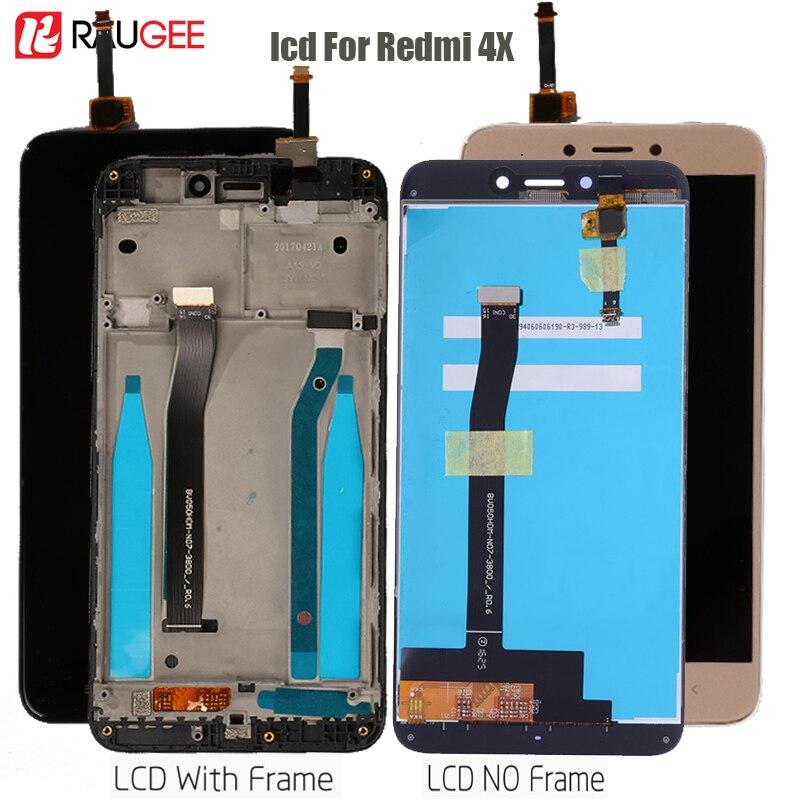 عرض ل شاومي Redmi 4X Lcd تعمل باللمس عرض محول الأرقام الجمعية استبدال ل Redmi 4X برو عرض اختبار Lcd أجزاء