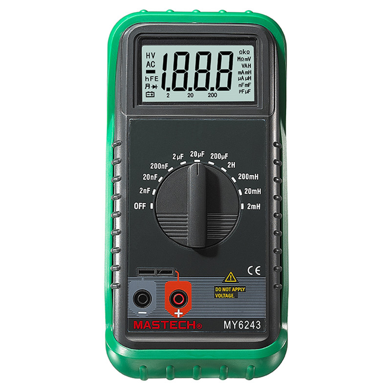 MASTECH MY6243 3 1/2 1999 count digital LC C / L Meter inductance capacitance tester 3 1 2 1999 count digital lc c l meter inductance capacitance tester mastech my6243