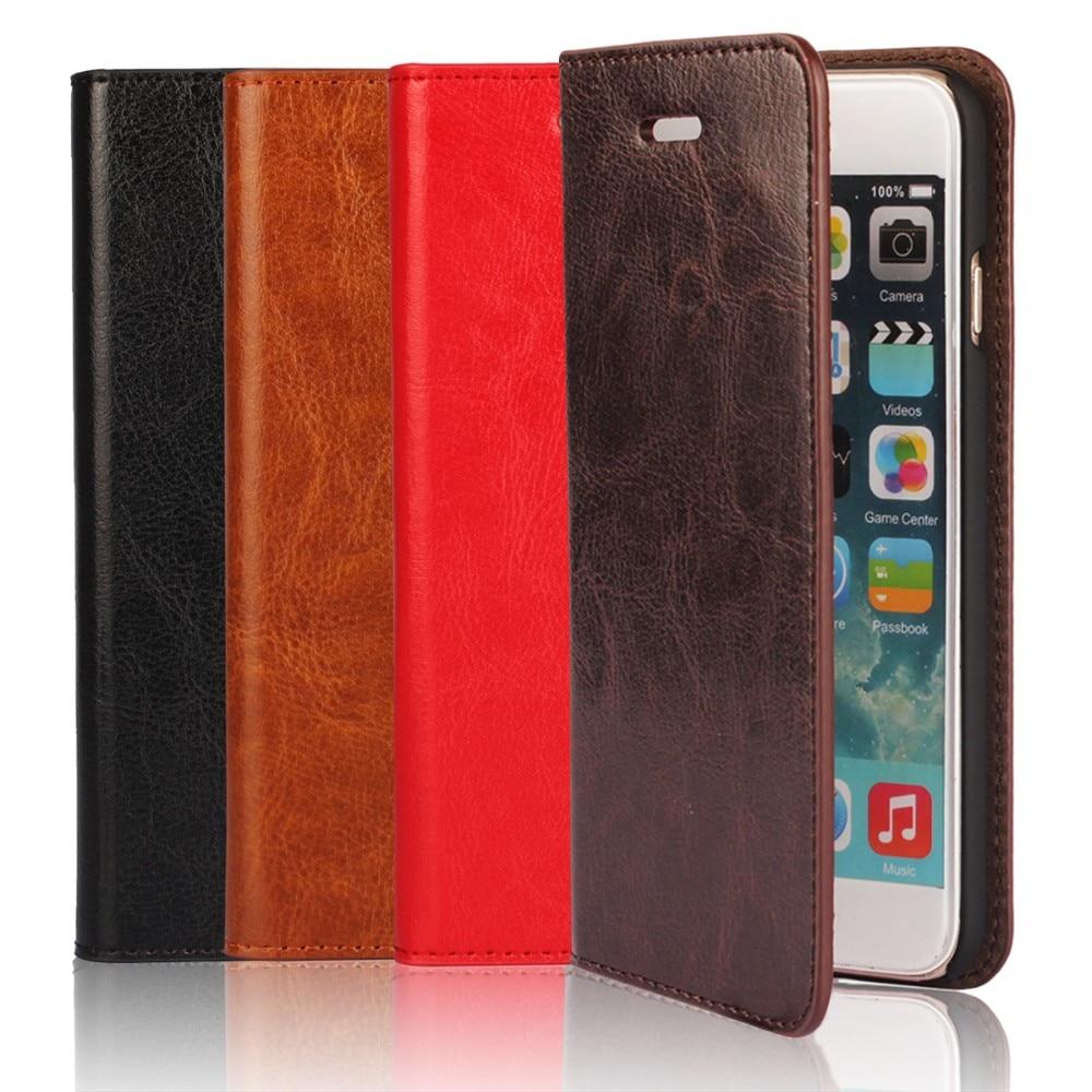 Luksuzni za iPhone 6 6s 4.7 Prava futrola s futrolom od kožne kože - Oprema i rezervni dijelovi za mobitele