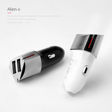 Dual USB Car Charger 3A Output Mobile Phone Travel Adapter Cigar Lighter Metal Usb for iPhone 6/7/8/X Samsung