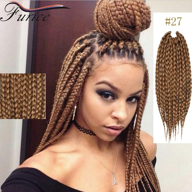 Box Braids Crochet Hair Blonde Extensions Extension Curly Dreadlock Ombre Kanekalon