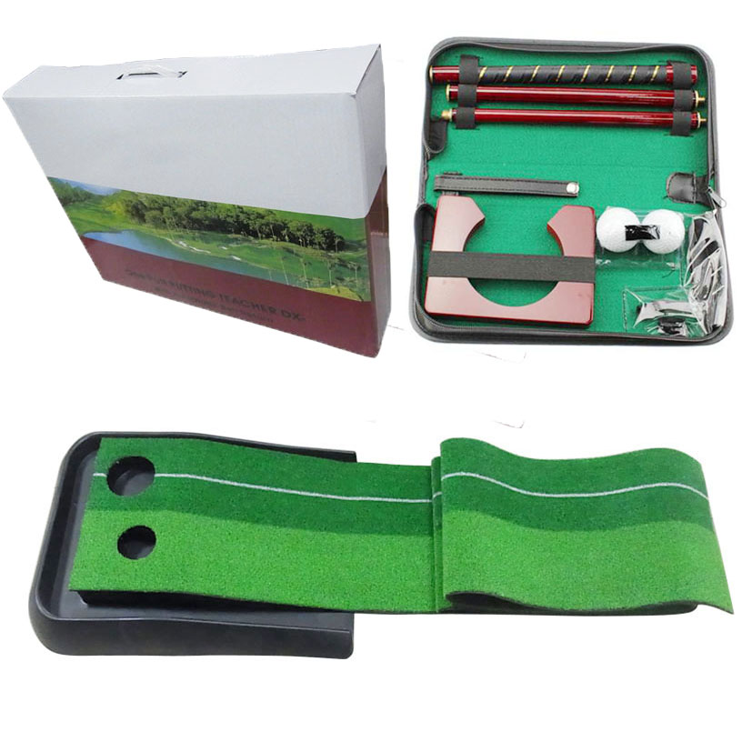 B&G new design ABS plastic base golf putting trainer set