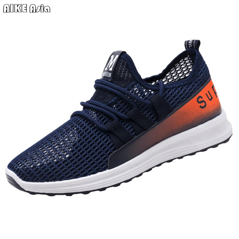 Dependable Aike Asia 2018 New Mens Breathable Mesh Casual Shoes Lovers Brand Lightweight Flat Shoes Lace Style Comfortable Mens Shoes Men's Casual Shoes Shoes