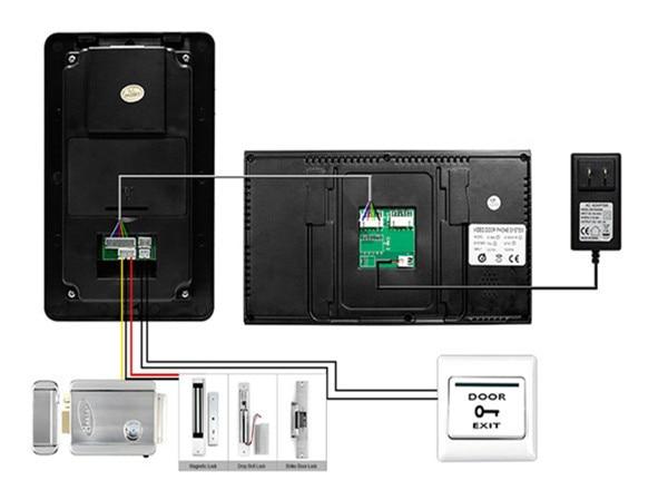 7 дюймов проводной дверной звонок видео электронной системы открывания двери