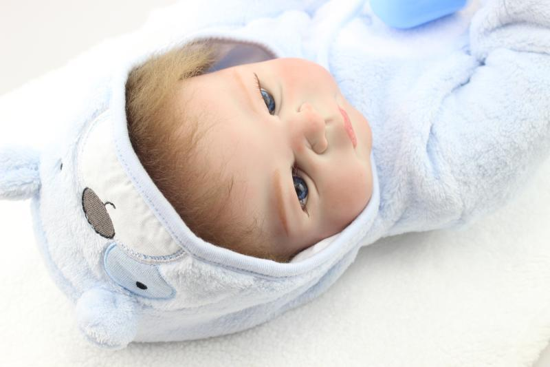 New 58CM Handmade full silicone reborn babies Doll Soft Body Baby Toys Best Gifts Toddler Gentle Touch Toy boneca rebornNew 58CM Handmade full silicone reborn babies Doll Soft Body Baby Toys Best Gifts Toddler Gentle Touch Toy boneca reborn