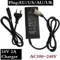 24В 2А электрический автомобиль зарядное устройство Универсальный герметичный свинцово-кислотный аккумулятор зарядное устройство электри...