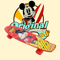 Children S Scooter Peny Board 22 Plastic Mini Cruiser Mickey Skateboard Long Board Banana Retro Skate