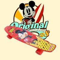 Disney Children's Scooter Peny Board 22Plastic Mini Cruiser Mickey Skateboard Long Board Retro Skate Longboard Fish board