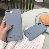 Love Heart Blue Letter Matte PC Phone Case For iPhone XS MAX XR X 8 Plus 7 Plus 6 Plus 6s Hard Case Back Cover Fundas Coque