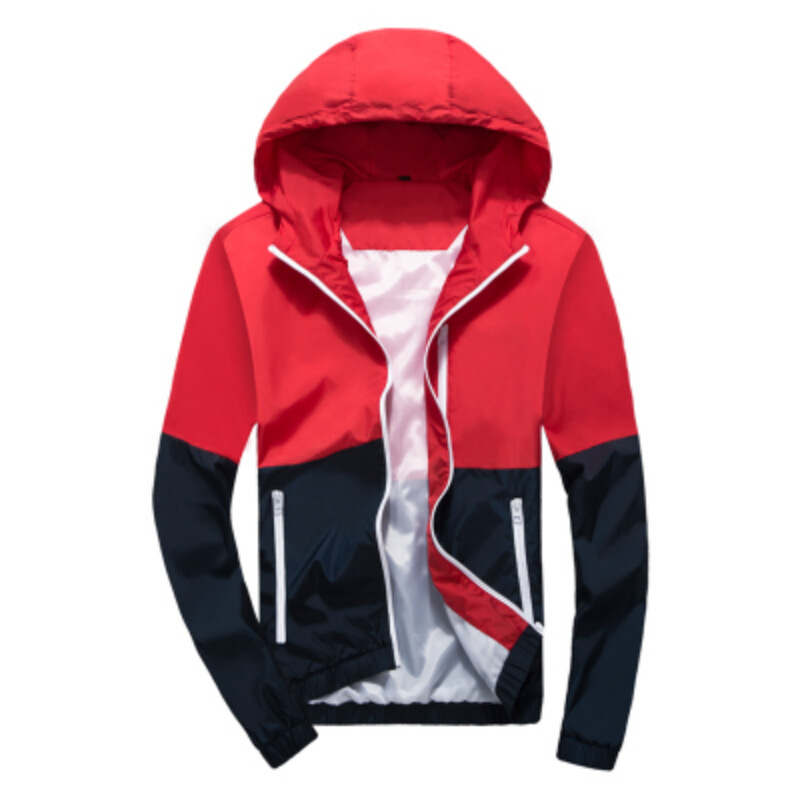 Basic     Jacket   Nice Fashion Thin Windbreaker Zipper Coat Casaco Feminino Hooded Brand Men's Women Casual Outwear Clothing