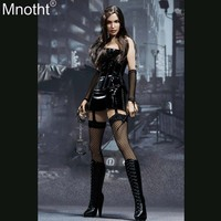 Mnotht EX018 1/6 Special Agent Couple Mrs.Smith Set Suit Short Skirt Coat Clothes Accessory Toy for 12in Soldier Action Figure b
