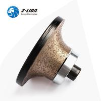 Z LION B20 Diamond Router Bit Granite Marble Stone Edge Profile Wheels With M10 Thread Wet Use For Portable Machine Grinding
