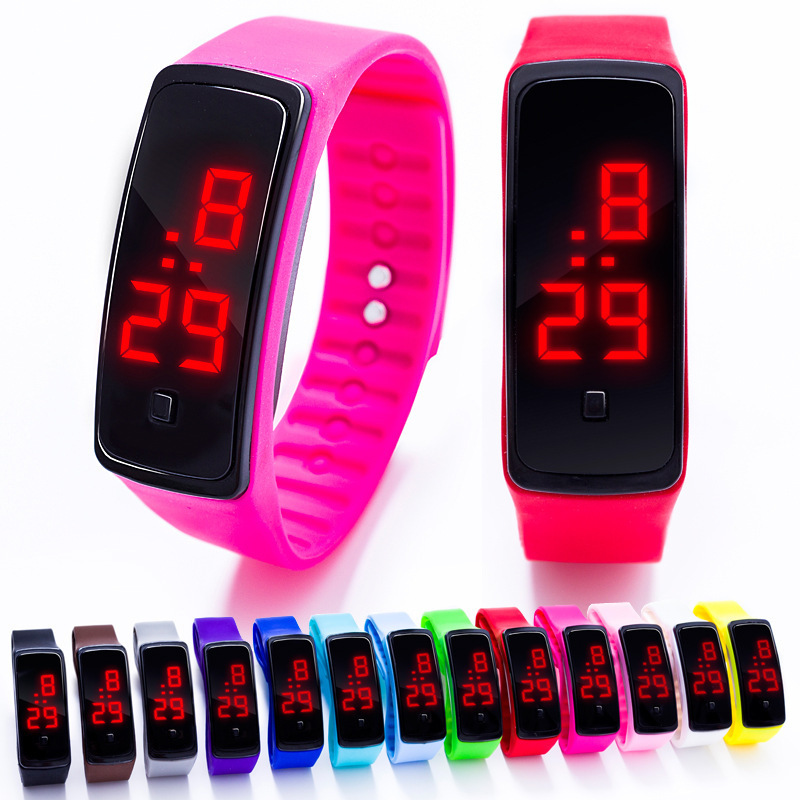 Fashion LED Watch Boys Girls Kids Children Students Sport Digital Watch New Mens Womens Silicone Running Watches Bayan Kol Saati