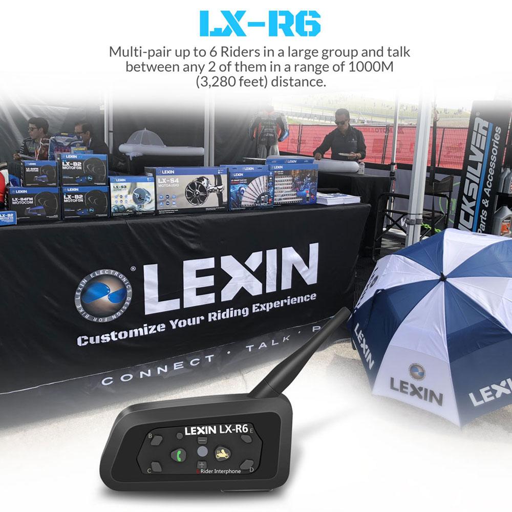LEXIN 3PCS 1200M մոտոցիկլ Bluetooth սաղավարտ - Պարագաներ եւ պահեստամասերի համար մոտոցիկլետների - Լուսանկար 5