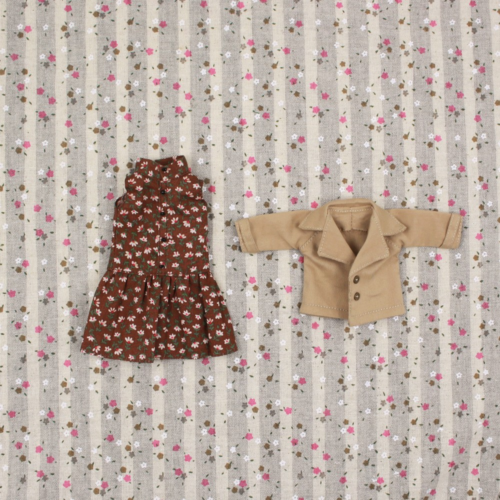 Neo Blythe Doll Floral Dress With Jacket 4