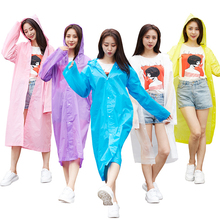 JPZYLFKZL2018 Hot Sale Fashion EVA Trench Raincoat Women/Men Impermeable Plastic Transparent Rain Coat 5 Colors Gear Poncho